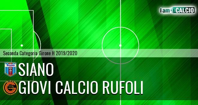 Siano - Giovi Calcio Rufoli