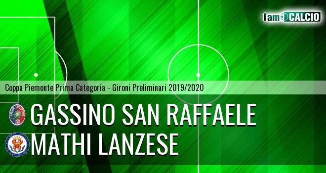 Gassino San Raffaele - Mathi Lanzese