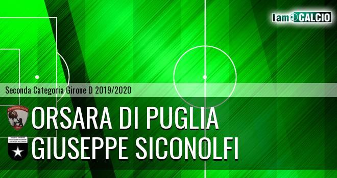 Orsara di Puglia - Giuseppe Siconolfi