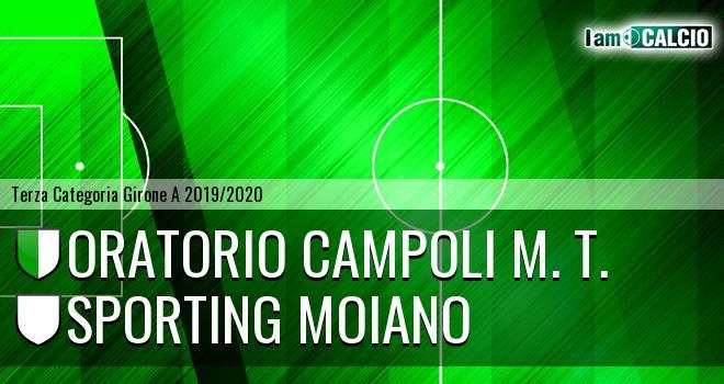 Oratorio Campoli M. T. - Sporting Moiano