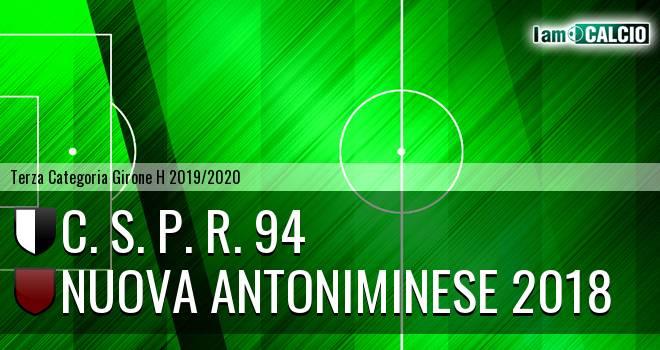 C. S. P. R. 94 - Nuova Antoniminese 2018