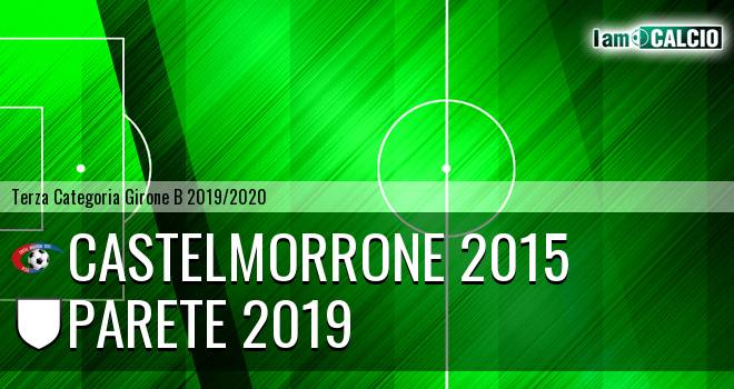 Castelmorrone 2015 - Parete 2019