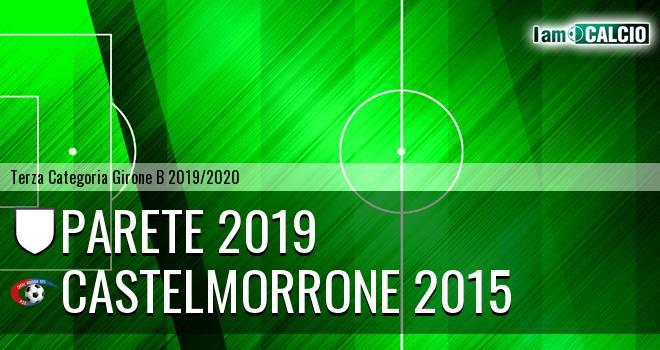 Parete 2019 - Castelmorrone 2015