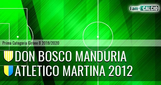 Don Bosco Manduria - Atletico Martina 2012