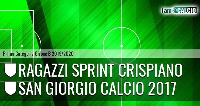 Ragazzi Sprint Crispiano - San Giorgio Calcio 2017