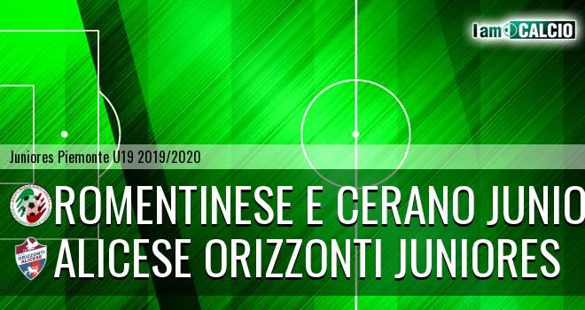 Romentinese e Cerano juniores - Alicese Orizzonti juniores