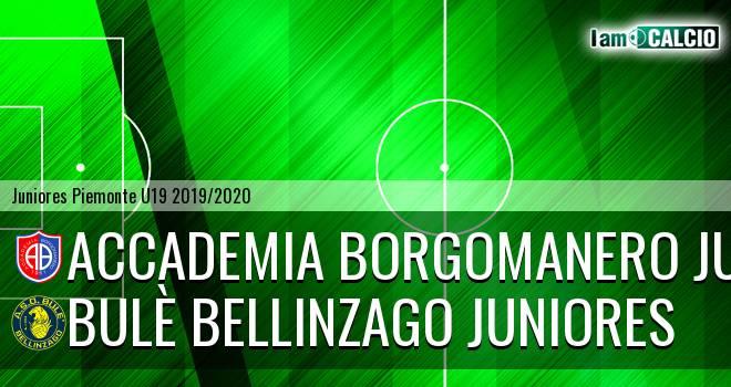Accademia Borgomanero juniores - Bulè Bellinzago juniores