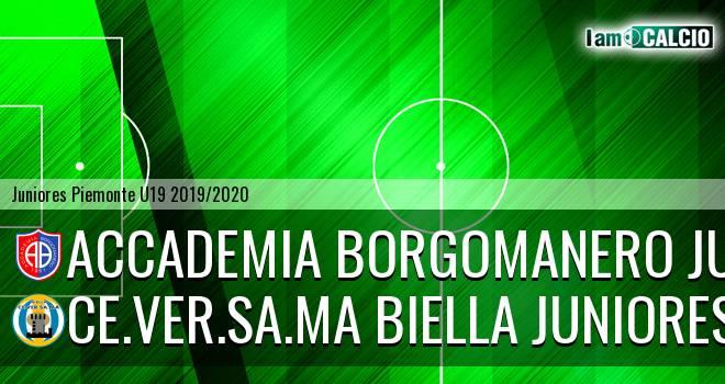 Accademia Borgomanero juniores - Ce.Ver.Sa.Ma Biella juniores
