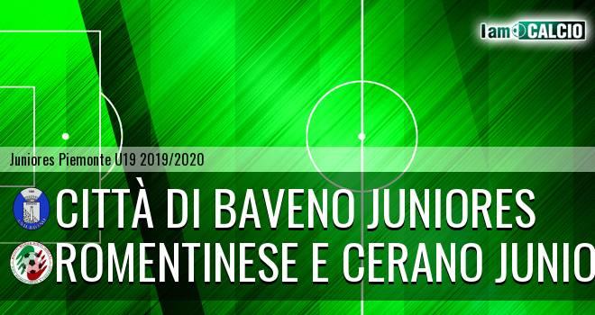 Città di Baveno juniores - Romentinese e Cerano juniores
