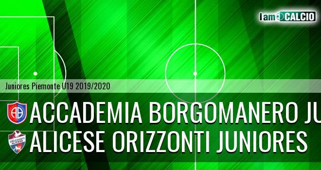 Accademia Borgomanero juniores - Alicese Orizzonti juniores