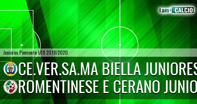 Ce.Ver.Sa.Ma Biella juniores - Romentinese e Cerano juniores