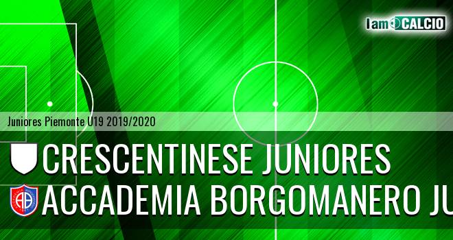Crescentinese juniores - Accademia Borgomanero juniores