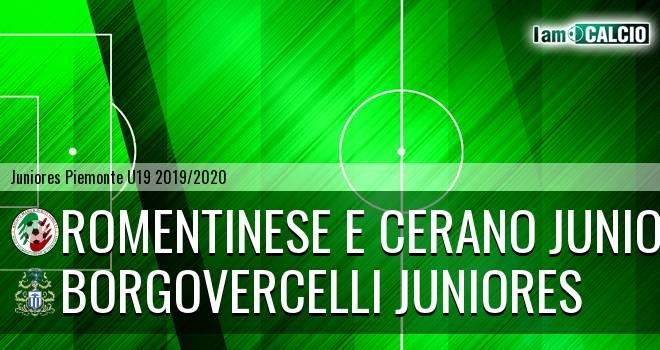 Romentinese e Cerano juniores - Borgovercelli juniores