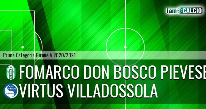Fomarco Don Bosco Pievese - Virtus Villadossola