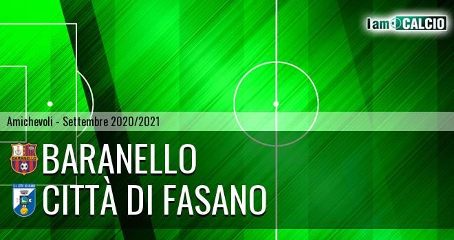 Baranello - Città di Fasano 0-6. Cronaca Diretta 02/09/2020