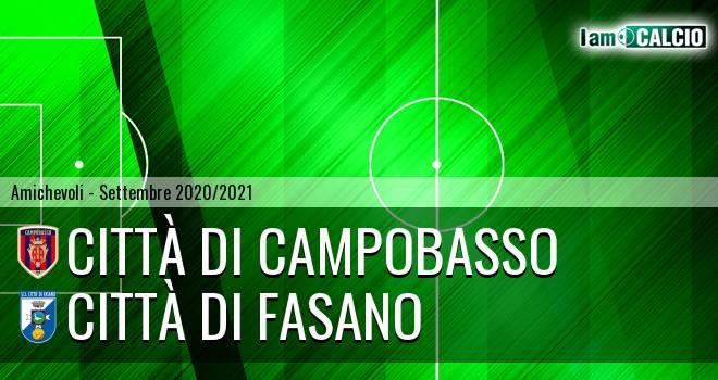Città di Campobasso - Città di Fasano 2-0. Cronaca Diretta 11/09/2020