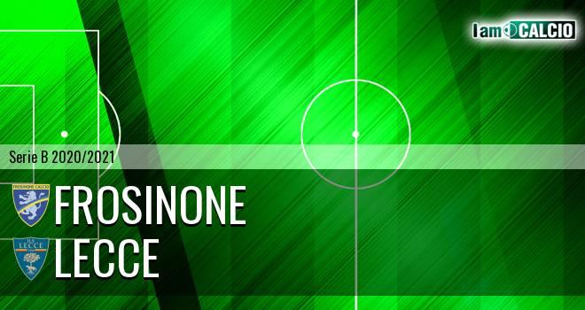 Frosinone - Lecce 0-3. Cronaca Diretta 20/03/2021