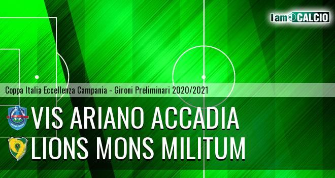 Vis Ariano Accadia - Lions Mons Militum