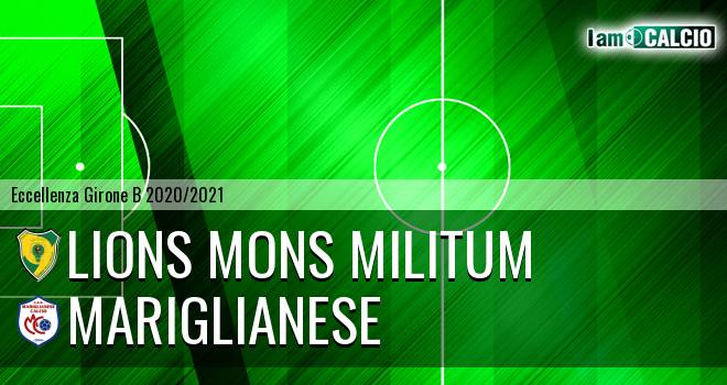 Lions Mons Militum - Mariglianese