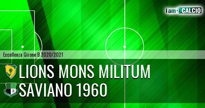 Lions Mons Militum - Saviano 1960