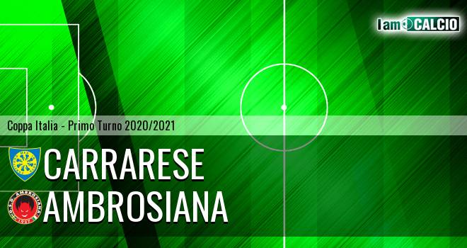 Carrarese - Ambrosiana