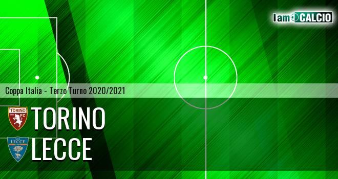 Torino - Lecce - Coppa Italia 2020 - 2021 › Fase Finale › Terzo Turno