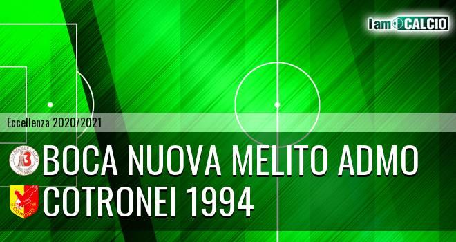 Boca Nuova Melito ADMO - Cotronei 1994