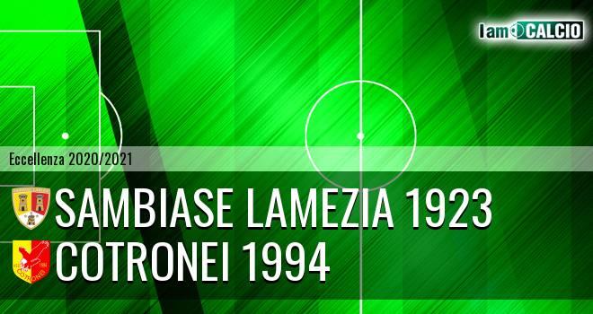 Sambiase Lamezia 1923 - Cotronei 1994