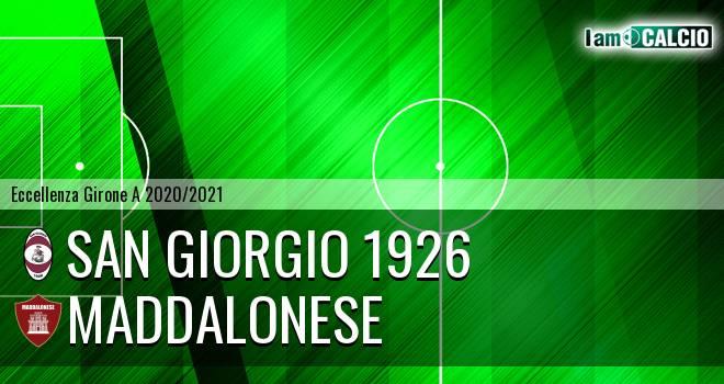 San Giorgio 1926 - Maddalonese