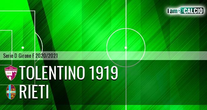 Tolentino 1919 - Rieti