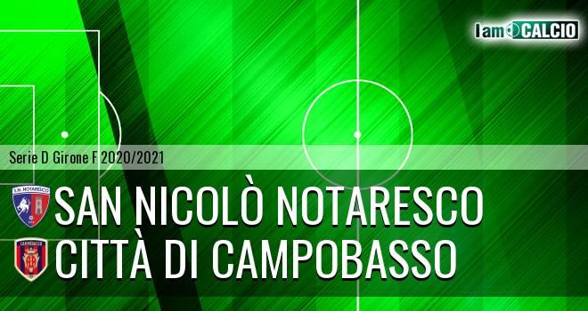 San Nicolò Notaresco - Città di Campobasso 1-2. Cronaca Diretta 01/04/2021