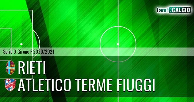 Rieti - Atletico Terme Fiuggi