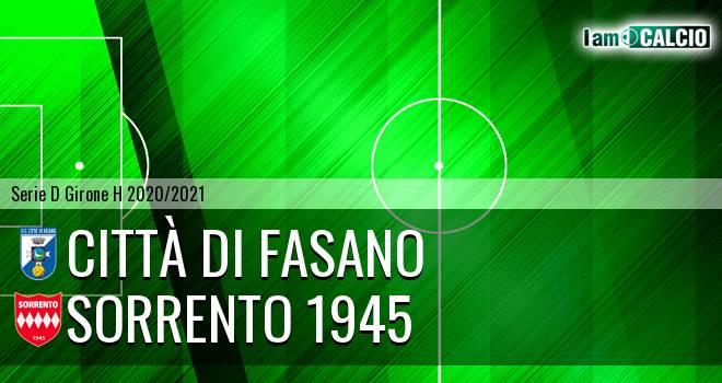 Citta' di Fasano - Sorrento 1945