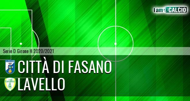 Citta' di Fasano - Lavello