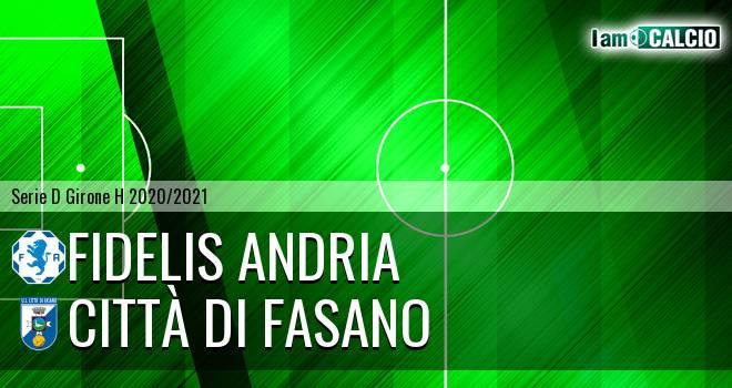 Fidelis Andria - Citta' di Fasano 1-0. Cronaca Diretta 14/04/2021