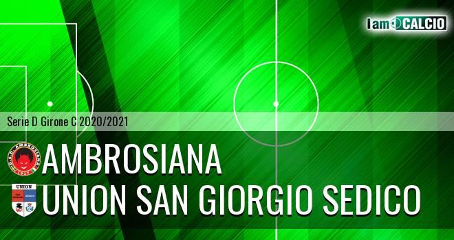 Ambrosiana - Union San Giorgio Sedico