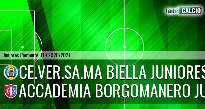 Ce.Ver.Sa.Ma Biella juniores - Accademia Borgomanero juniores