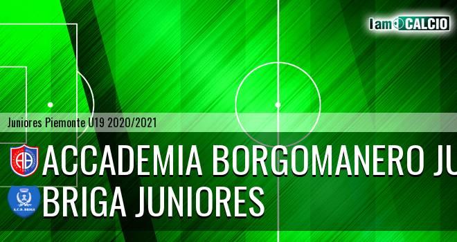 Accademia Borgomanero juniores - Briga juniores