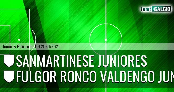 Sanmartinese juniores - Fulgor Ronco Valdengo juniores