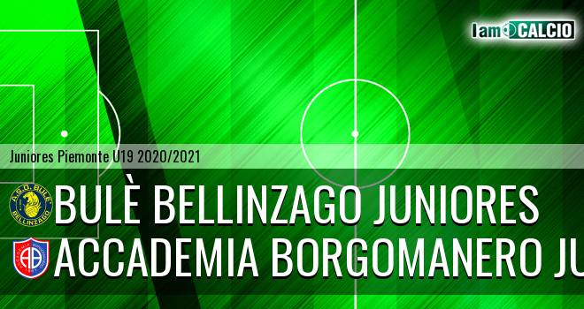 Bulè Bellinzago juniores - Accademia Borgomanero juniores