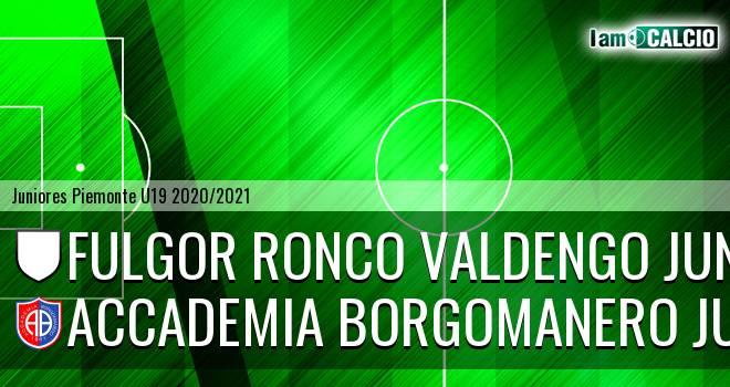 Fulgor Ronco Valdengo juniores - Accademia Borgomanero juniores