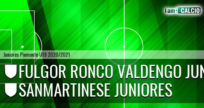 Fulgor Ronco Valdengo juniores - Sanmartinese juniores