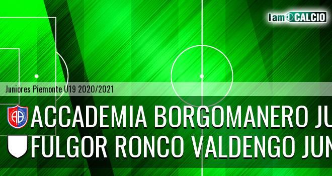 Accademia Borgomanero juniores - Fulgor Ronco Valdengo juniores