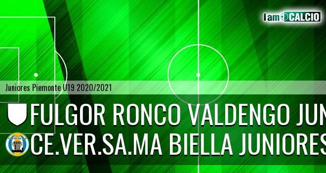 Fulgor Ronco Valdengo juniores - Ce.Ver.Sa.Ma Biella juniores