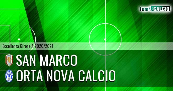 San Marco - Orta Nova Calcio