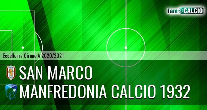 San Marco - Manfredonia Calcio 1932