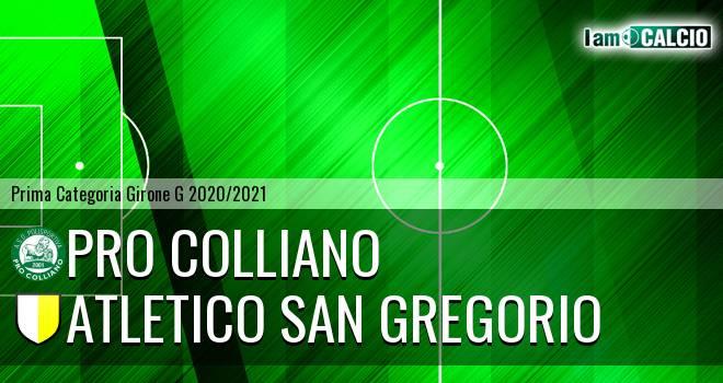 Pro Colliano - Atletico San Gregorio