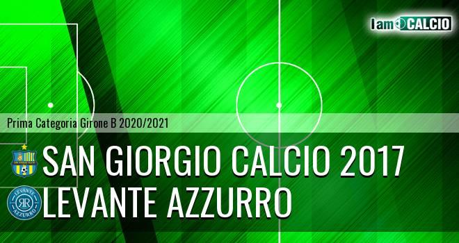 San Giorgio Calcio 2017 - Levante Azzurro