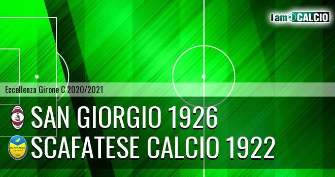 San Giorgio 1926 - Scafatese Calcio 1922