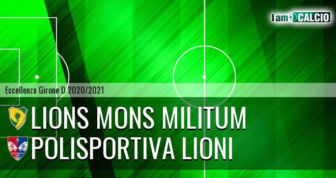 Lions Mons Militum - Polisportiva Lioni